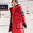 黑红两色: INMAN 茵曼 1884122329 女士加厚防风羽绒服