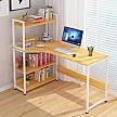 PLUS会员:朗程 简约台式书桌 带书架