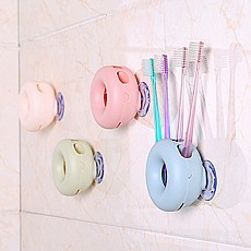 创意吸壁式牙刷架多规格吸附快速沥水