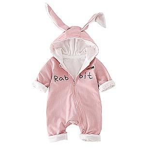 新生婴儿衣服可爱超萌连体衣秋冬款宝宝小兔兔爬服哈衣长袖外出服