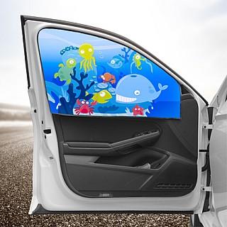 磁性吸伸缩汽车遮阳帘