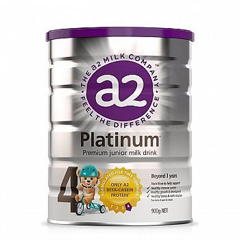 a2 艾尔 白金版 婴儿奶粉 4段 900g 3罐
