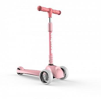 优贝加宽闪光轮一键折叠滑板车1-2-3-4-5岁宝宝生日礼物男孩女孩踏板滑行车