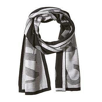 Armani Jeans 羊毛混纺印花围巾