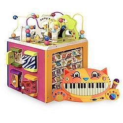 双11预售、生日好礼: B Toys 动物园活动木立方+大嘴猫咪电子琴