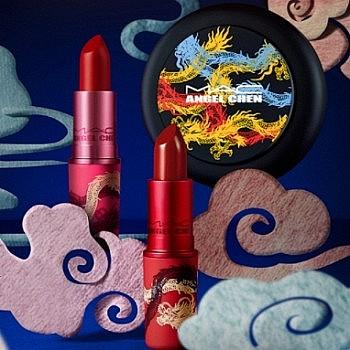 新品发售、双11预售: MAC 魅可 联名限定龙纹胶囊系列 口红套组/气垫礼盒