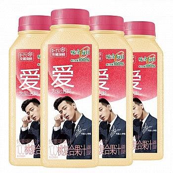多口味可选:味全 每日C桃汁 100%果汁 300ml*4瓶 *7件