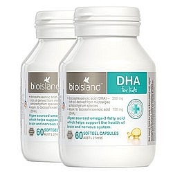 88VIP、双11预售: BIO ISLAND 婴幼儿DHA海藻油 2瓶装