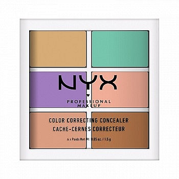 NYX Professional Makeup 6色修容遮瑕盘 *5件
