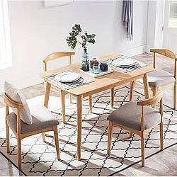 21日0点:双11预售: CHEERS 芝华仕 PT008 北欧简约餐桌椅组合 一桌四椅