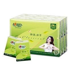 凑单品:心相印 茶语丝享系列超迷你手帕纸4层6片*24包*4件