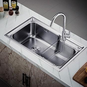 JOMOO 九牧 02117不锈钢厨房水槽配龙头套餐