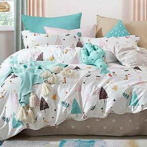 梦洁家纺 全棉印花三件套 1.2米床
