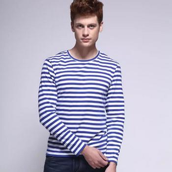 1号店超市KOOL 男装 新款蓝白条海魂衫