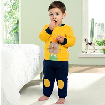 天猫南极人 儿童内衣保暖加厚套装