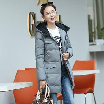 当当网商城高梵 女装韩版中长款羽绒服